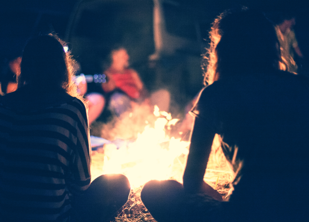connecting with self and others at evening bonfires