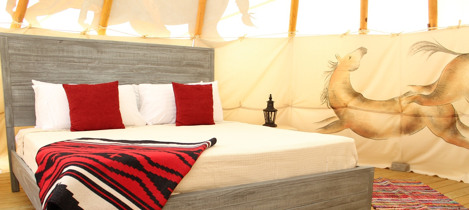 stay in a tipi for one of our wellness retreats